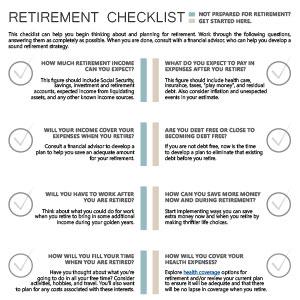 retirement checklist